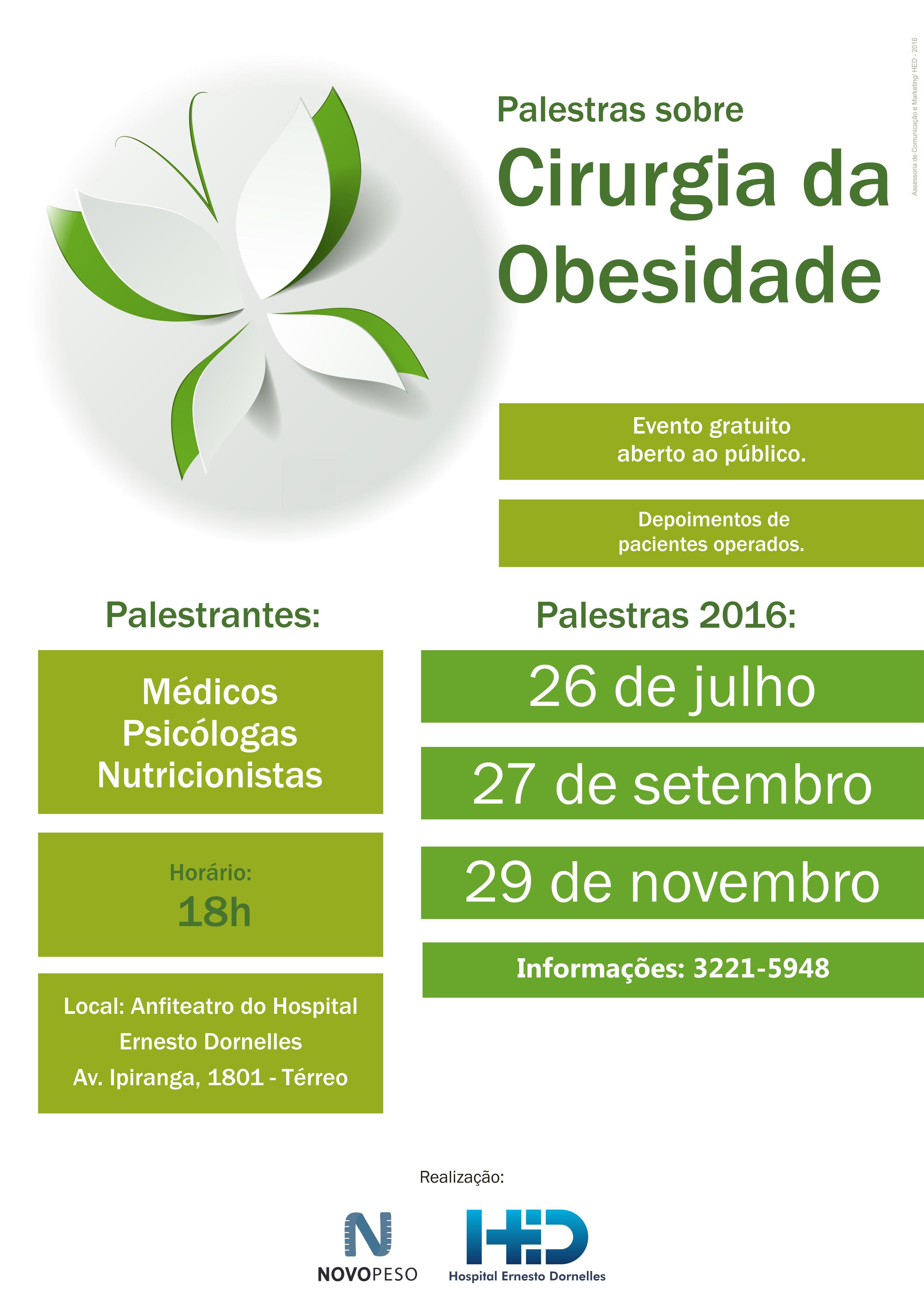 Palestras sobre Cirurgia e Obesidade 2016 7bec5f9d85